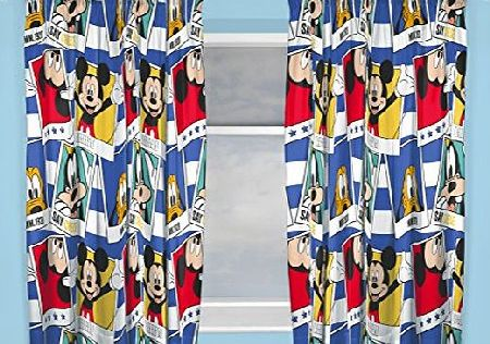 Disney Junior Character world 72-Inch Disney Mickey Mouse Polaroid Curtains, Multi-Colour
