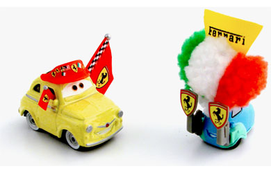 disney Pixar Cars - Diecast Movie Moments - Ferrari Luigi and Guido