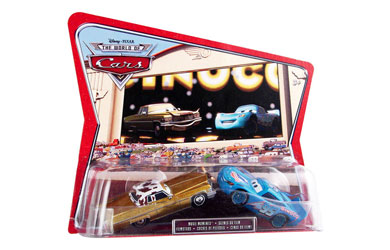 Pixar Cars - Diecast Movie Moments - Tex Dinoco and Dinoco Lightning McQueen