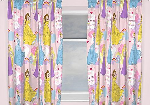 Disney Princess Character world 72-Inch Disney Princess Enchanting Curtains, Multi-Colour