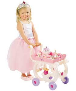 Princess Tea Trolley with Beauty and the Beast Accs
