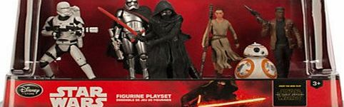 Disney Star Wars The Force Awakens 6 Figurine Playset (Flamtrooper, Captain Phasma, Kylo Ren, Rey, BB-8 and Finn)
