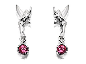 Sterling Silver Tinkerbell Pink Crystal