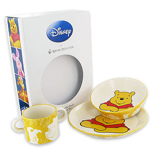 Disney Winnie the Pooh Plate Bowl and Mug Gift Set