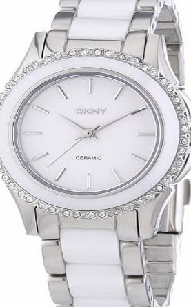 DKNY (DNKY5) Womens Quartz Watch with White Dial Analogue Display and White Stainless Steel Bracelet NY8818