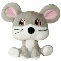 It Big Heads Plush Dog Toy Mouse 14Cm