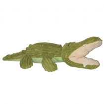 It Corduroy Dog Toy Green Crocodile 40Cm