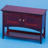 1/12th Scale Dolls House Side Table with Cupboards