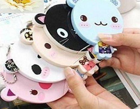 Domire 1pc Cute Cartoon Cosmetic Mirror Comb Set Lady Girl (Random Color)