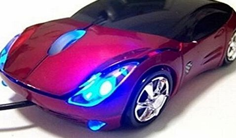 Domire Ferrari Car Shaped Optical USB Mouse