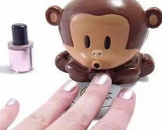 Domire Lovely Cute Monkey Shape Nail Art Nail Polish Blower Dryer Nail Tools