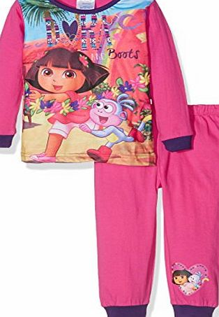 Dora the Explorer Girls Official Pyjama Sets, Multicoloured (Multicoloured), 2-3 Years