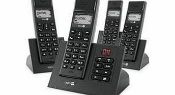Arc 5R +3 Digital Cordless Telephone Dect with Answer Machine amp; Caller Display - QUAD - 4 handsets