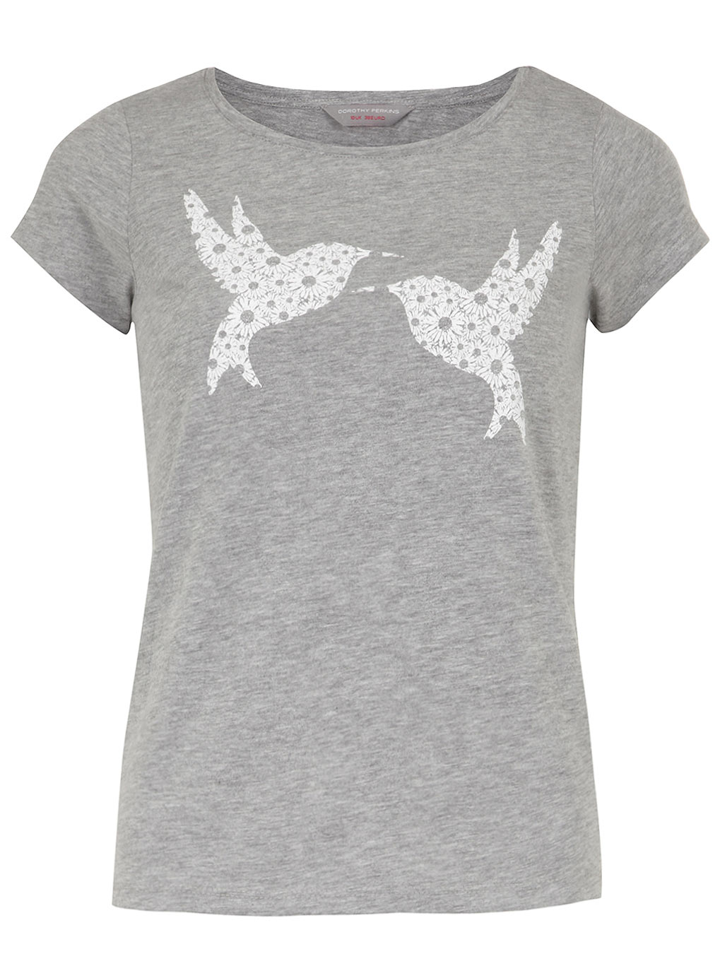 Petite Grey Lace Bird T-shirt 79229715