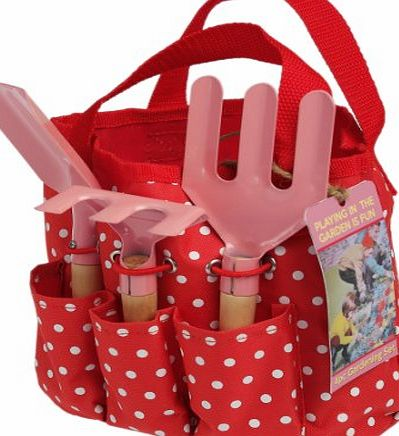 dotcomgiftshop Childrens Gardening Set In Red Bag