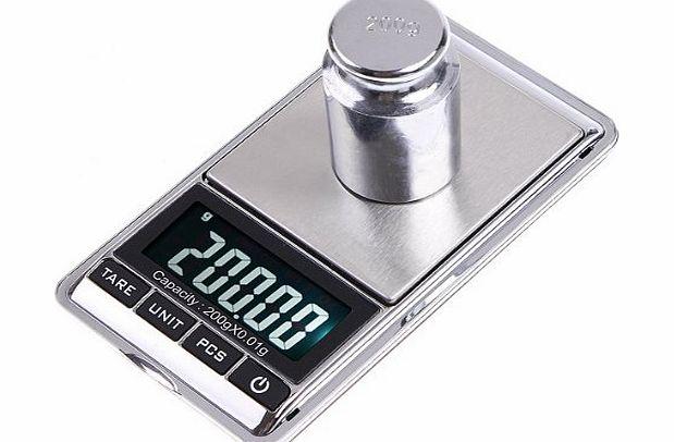 Douself 200g lcd display mini digital weight pocket for Mini digital jewelry pocket gram scale