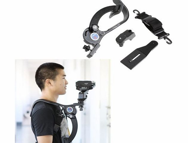 douself iColourful Hand Free Camcorder DV Video Camera Mount Tripod Holder Bracket Stand Shoulder Pad Support for Canon Nikon Sony Pentax Olympus Etc