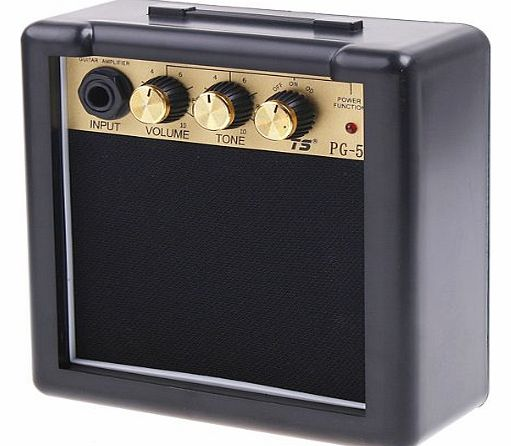 PG-5 5W Electric Guitar Amp Amplifier Speaker Volume Tone Control With Metal Clip