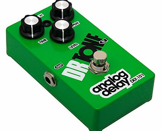 Dr Tone DLY101 Analog Delay Electric Guitar / Bass Effects Pedal - Green
