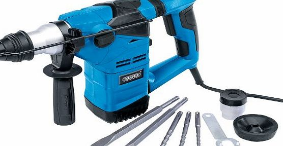 Draper 20504 1500W 230V SDS Plus Rotary Hammer Drill Kit with Rotation Stop