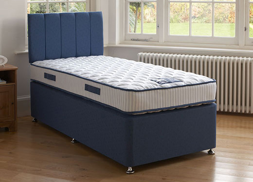 Single Deluxe Divan Set - Blue