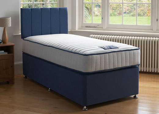 Single Memory Divan Set - Blue