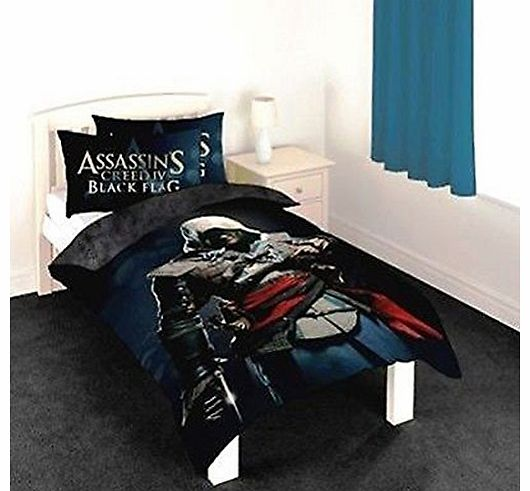 Assassins Creed IV Black Flag Single Duvet Cover and Pillowcase Set