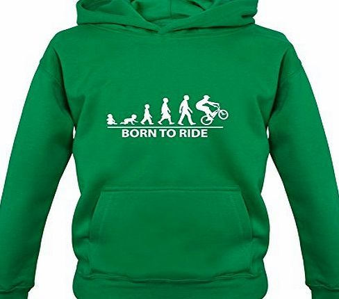 Dressdown Born to Ride - Childrens / Kids BMX Hoodie - Irish Green - XXL (12-13 Years)