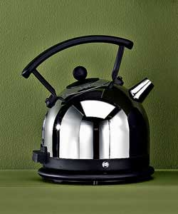dualit Polished Chrome and Black Dome Kettle
