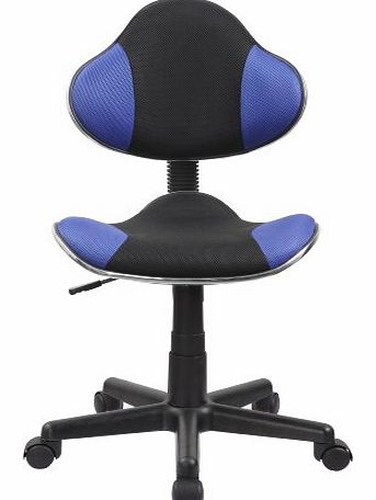 Model No. 0354 Office / Desk Swivel Chair with Mesh Covering / Height-Adjustable / Ergonomic / Blue