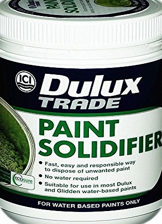 Dulux 1 x Dulux® Paint Solidifier Professional DIY Waste Paint Hardener Fast Dry Universal Activator 500g