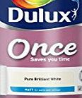 Dulux Once Matt Paint for Walls, 5 L - Pure Brilliant White