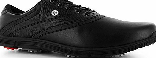 Dunlop Mens Classic Golf Shoes Lace Up Sports Spiked Cushioned Ankle Footwear Black UK 9.5 (43.5)
