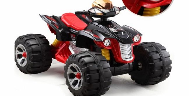 UNIQUE 2014 MODEL RAPTOR 12V QUAD BIKE IN BLACK,NOW BIGGER BETTER AND STRONGER ,WITH MUSIC FUNCTION , HIGH AND LOW SPEED - COMPARE THE SIZE TO OTHERS