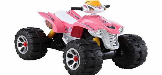 UNIQUE 2014 MODEL RAPTOR 12V QUAD BIKE IN PINK,NOW BIGGER BETTER AND STRONGER ,WITH MUSIC FUNCTION , HIGH AND LOW SPEED - COMPARE THE SIZE TO OTHERS