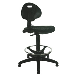 durable Polyurethane Draughtsman Stool Black