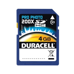 Duracell 4GB Photo Pro 200x SD Card (SDHC) -