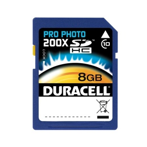Duracell 8GB Photo Pro 200x SD Card (SDHC) -