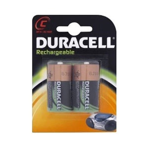 Rechargeable 2200mAh C Batteries - Twin