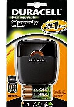 Duracell Speedy Charger - Battery Charger with 2