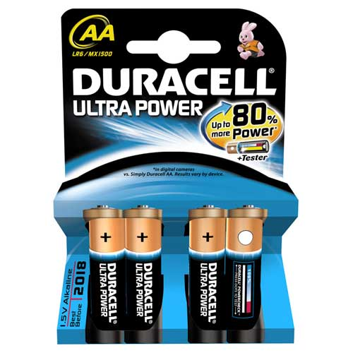 Ultra Power AA Batteries Pack of 4