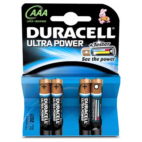 Ultra Power AAA Batteries Pack of 4