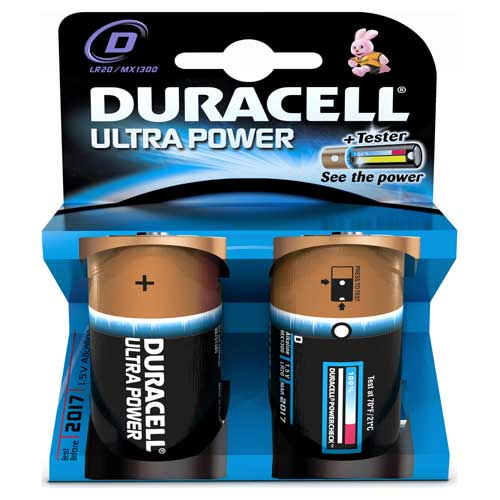 Ultra Power D Cell Batteries Pack of 2