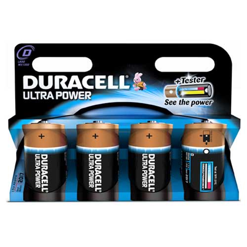 Ultra Power D Cell Batteries Pack of 4