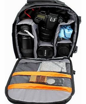 14 inch Padded Camera Rucksack Backpack Bag for Canon EOS and PowerShot Range - Now with Rain Cover!