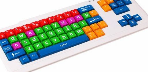 DURAGADGET  Colourful Kids Proof Childrens, Special Needs or Sight Impaired PS2/USB PC Keyboard