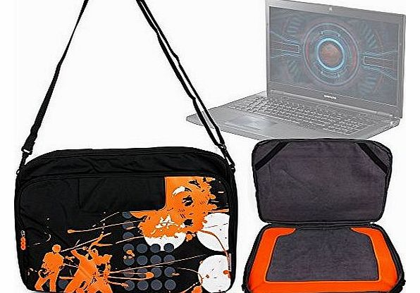 Limited Edition 17.3`` Laptop Case for Samsung Series 7 Gamer, Samsung Series 5 550P7C S0E & Samsung Series 3 300E5E - Shoulder & Messenger Bag / Satchel with Wrap-Around Zip Closure
