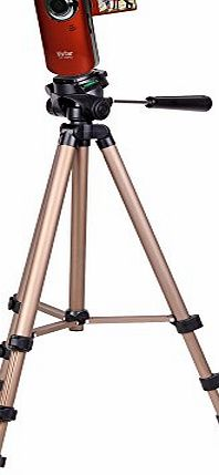 Professional Quality Tripod For Vivitar DVR 620HD Camcorder / Vivitar DVR 748HD / Vivitar DVR558HD / Vivitar DVR 638HD With Nylon Carry Case By DURAGADGET