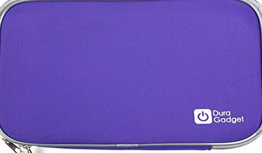 DURAGADGET Water Resistant Portable DVD Player Purple Case With Soft Padded Lining For Philips PD9030/37 amp; PD9000/37 9-Inch Portable DVD Players