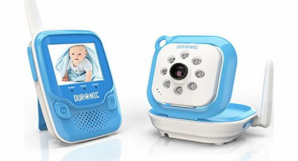Duronic B101B Blue 2.4 GHz 250m Wireless Colour Digital Video amp; Sound Baby Monitor with Night Vision